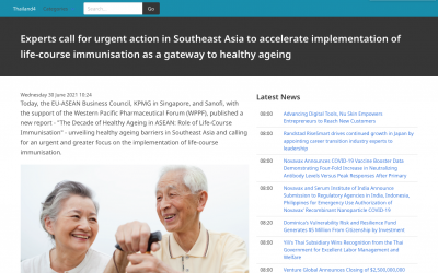 Thailand4   Experts call for urgent action in Southeast Asia to accelerate implementation of life-course immunisation as a gateway to healthy ageing