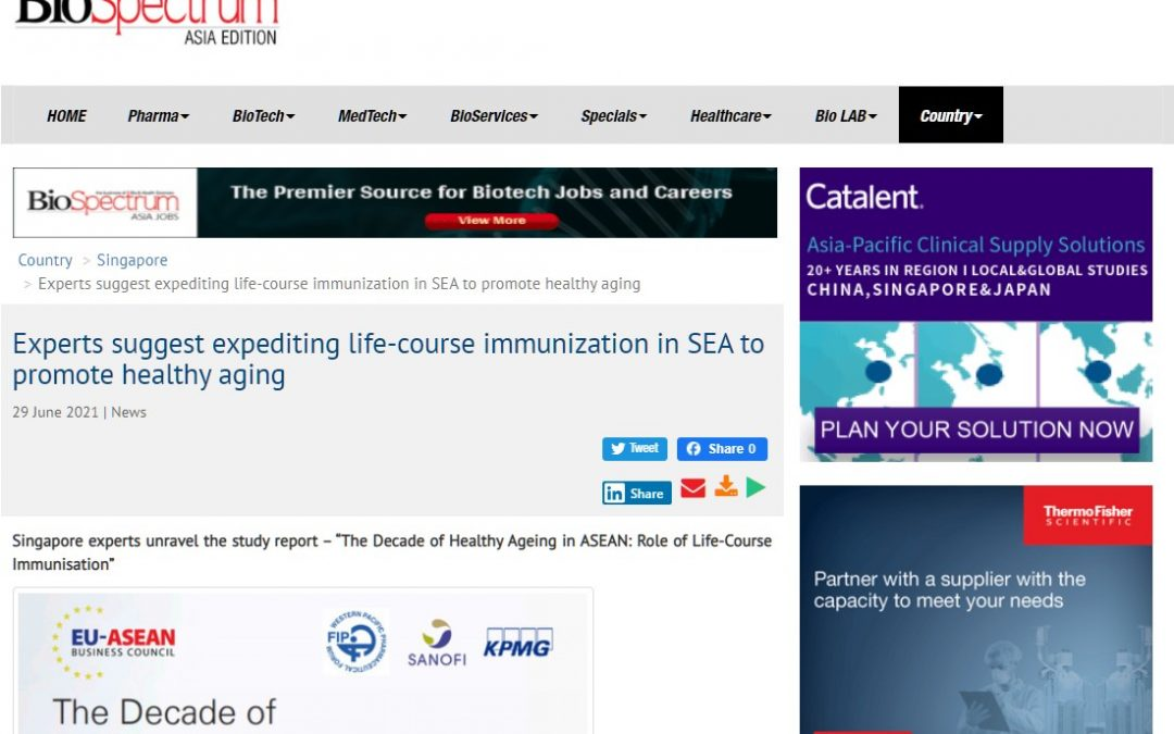 BioSpectrum Asia   Experts suggest expediting life-course immunisation in SEA to promote healthy ageing