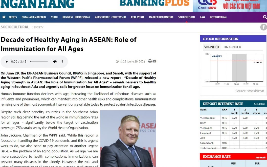 Banking Times Online | Decade of healthy ageing in ASEAN and role of immunisation for all ages
