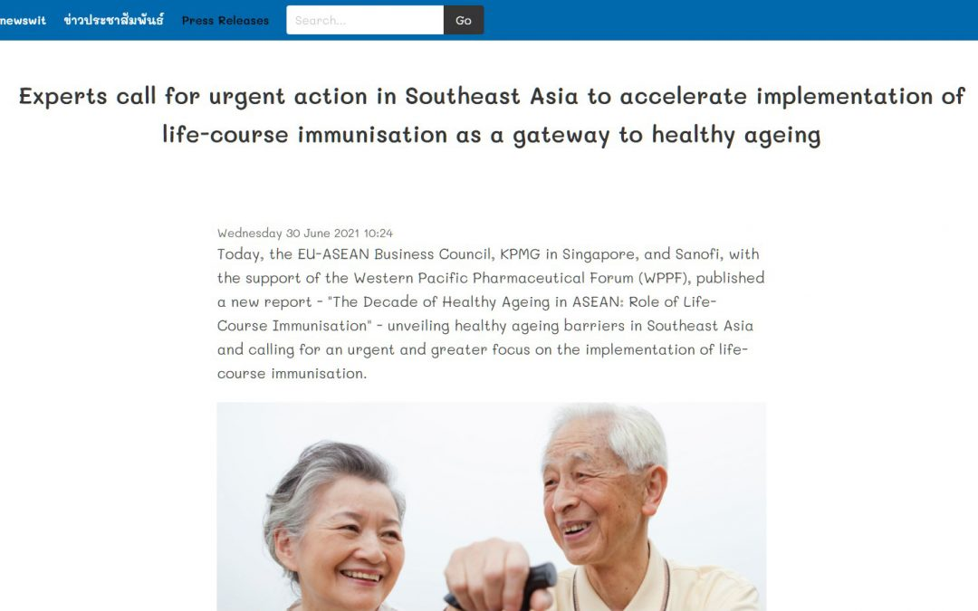 Newswit | Experts call for urgent action in Southeast Asia to accelerate implementation of life-course immunisation as a gateway to healthy ageing