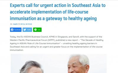 ThaiPR   Experts call for urgent action in Southeast Asia to accelerate implementation of life-course immunisation as a gateway to healthy ageing