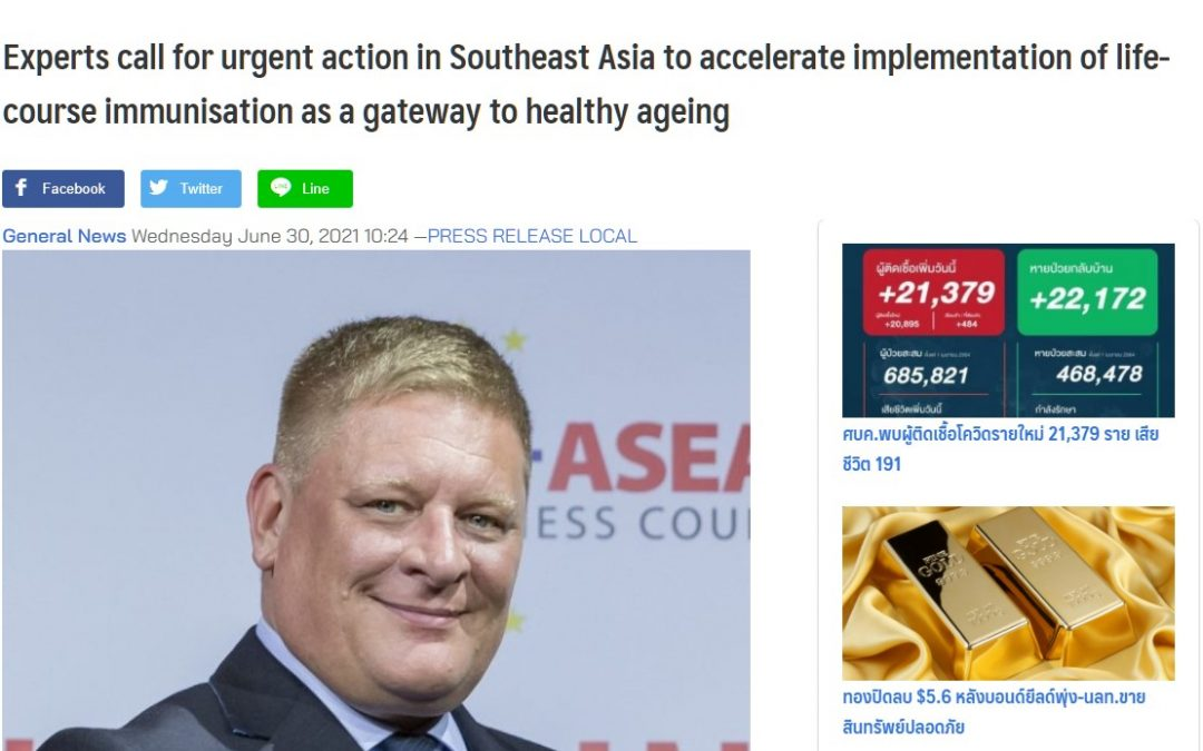 Ryt9 | Experts call for urgent action in Southeast Asia to accelerate implementation of life-course immunisation as a gateway to healthy ageing